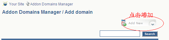 添加新域名